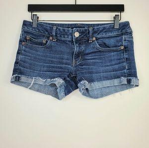 American Eagle Jean Roll Hem Short Shorts